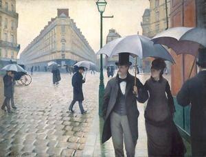 Paris Street- Rainy Weather 1877  Gustave Caillebotte