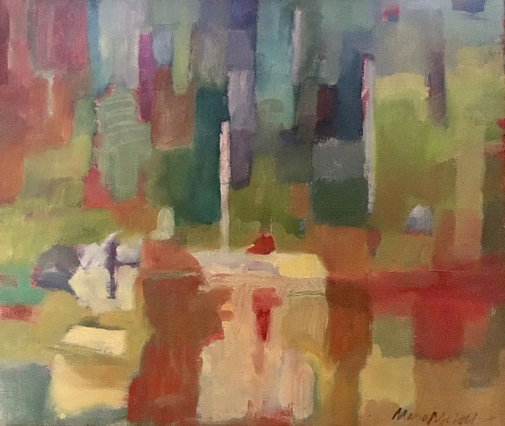Reflection. Spegling. 46,5x39 cm + wood frame in pastel green 1,5 cm. Oil painting on canvas by Marie Åhfeldt, Mås Illustra. www.masillustra.se #painting #art #masillustra #seaside #boat