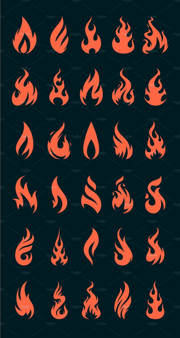 Vector Fire Icons #transparency#em#Photoshop#forma…