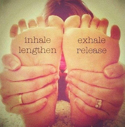 Inhale lengthen, exhale release