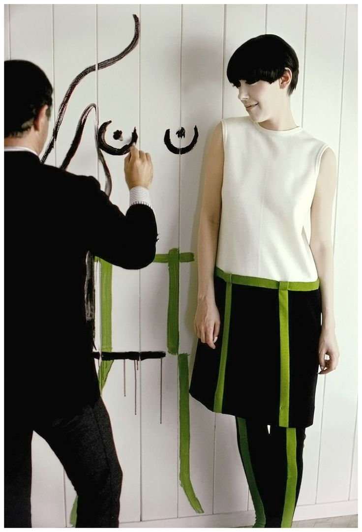 Rudi Gernreich with his muse Peggy Moffitt, LOOK magazine, 1965, photo Frank Horvat