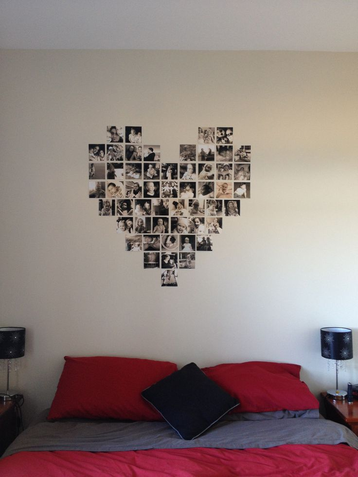 Photo wall art for our bedroom
