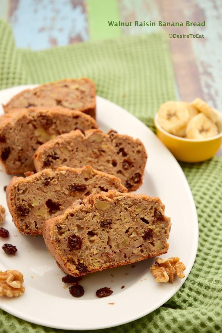 Walnut raisin banana bread