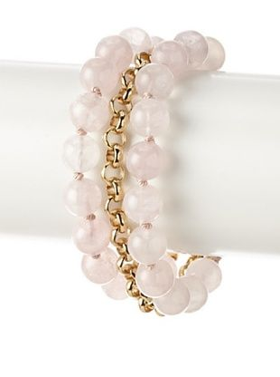 70% OFF Cristina V. Triple Chain Rose Quartz Bracelet