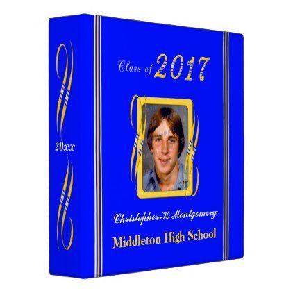 #photo - #School Colors Blue Gold Graduation 1.5 inch Binder
