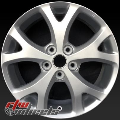 "17"" Mazda 3 oem wheels for sale 2007-2009 Silver rims 64895 - https://www.rtwwheels.com/store/shop/17-mazda-3-oem-wheels-sale-silver-stock-rims-64895/"