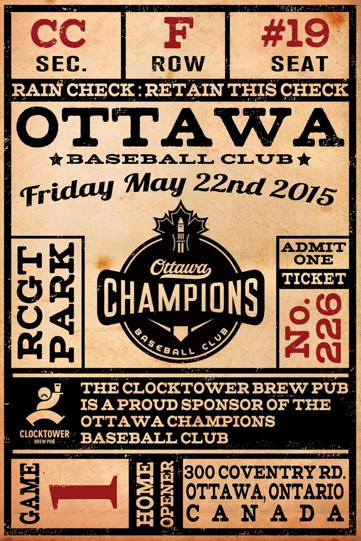 A beautiful promotional poster prepared by Clocktower BrewPub in 2015