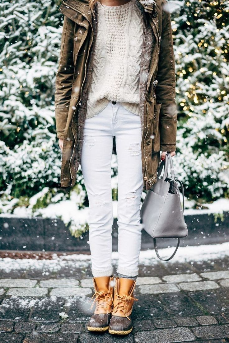 Winter Style Ideas. Winter Fashion and Winter Outfit Ideas. Winter boots, especially LL Bean duck boots.