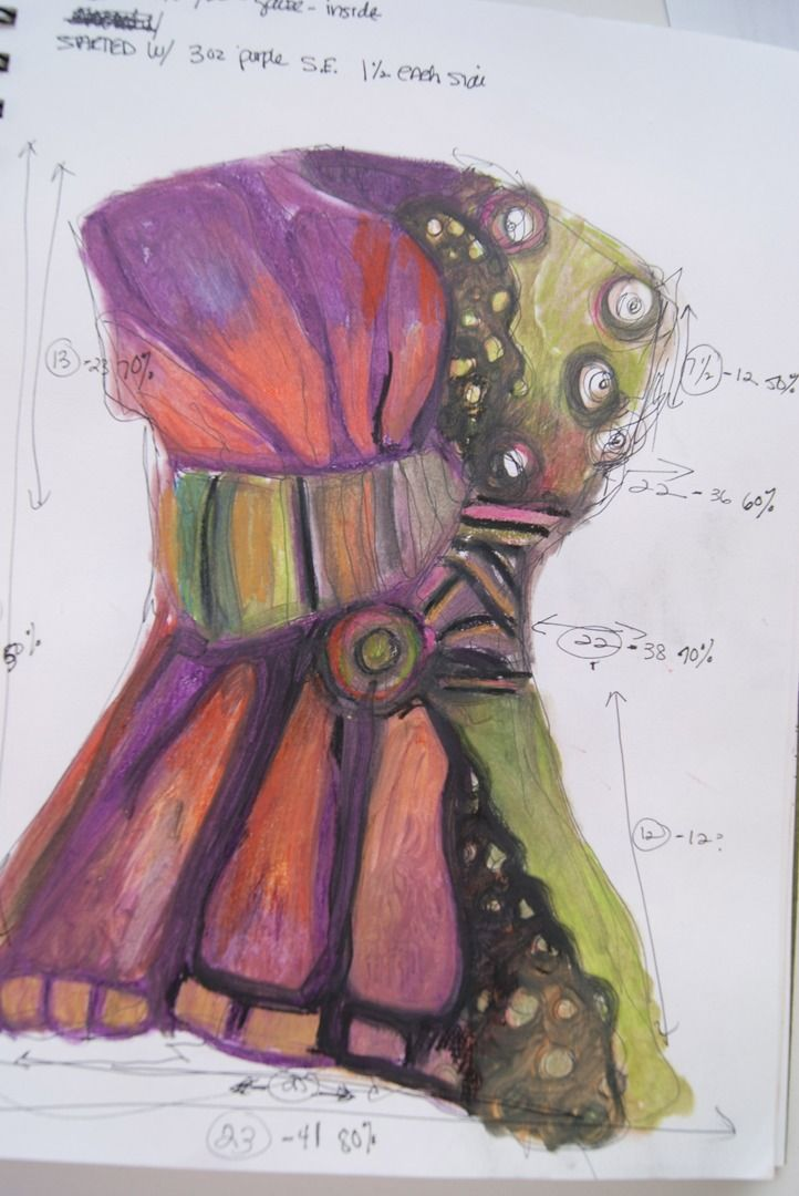 Another Jean Gauger butterfly jacket sketch