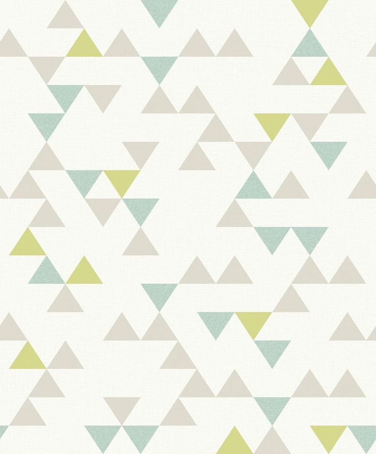 Scandi Geometric Blue and Green wallpaper by Albany