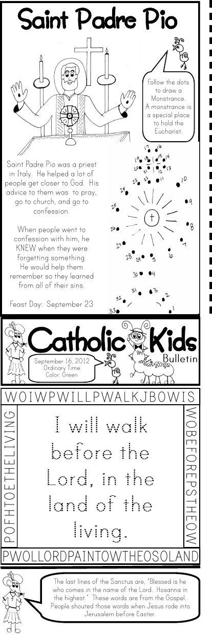 Catholic Kids Bulletin: Printable's (Free)