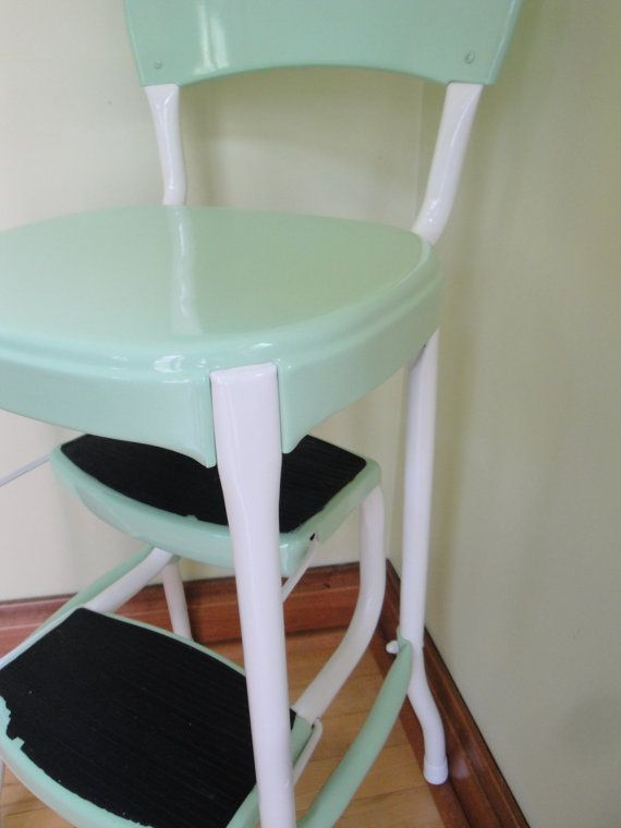 Vintage Red Cosco Kitchen Step Stool Retro Mint Green White For My Home