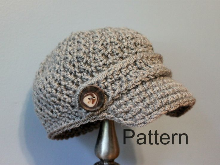 Pattern Crochet Newsboy Cap Baby And Toddler Size By