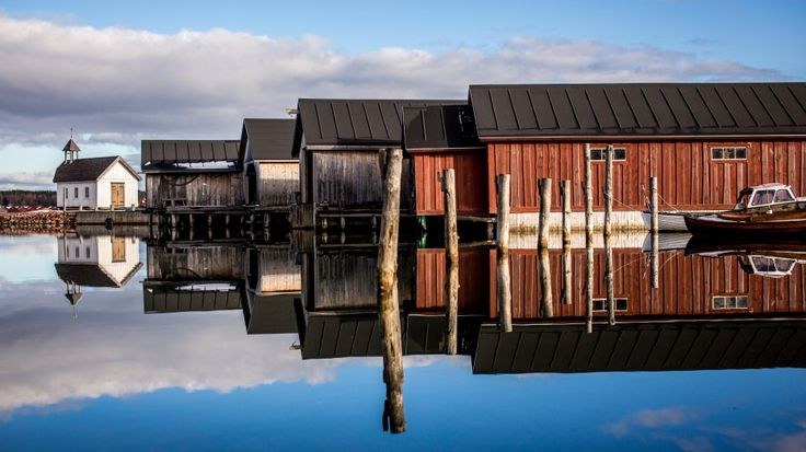 Boathouses, Åland, Finland