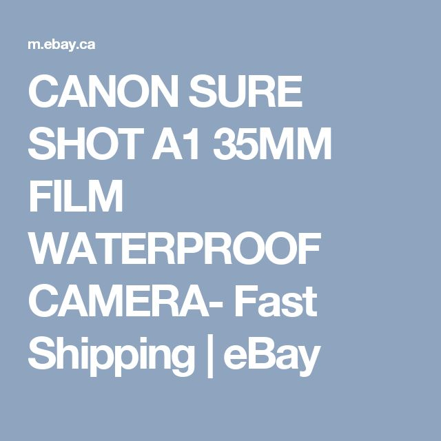 CANON SURE SHOT A1 35MM FILM WATERPROOF CAMERA- Fast Shipping | eBay