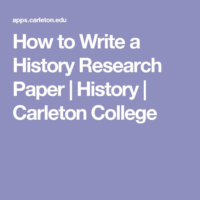 organizing a history research paper Expert tips on how to properly organize a research paper cover page  the way that you choose to organize your research paper cover page will depend on whether or not there is a formatting requirement that is attached to the assignment.