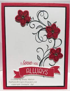 MyDiane Designs: Time For Flowers, Falling Flowers, Time of Year, Flourishing Phrases, May Flowers, Bunch of Banners, Stampin' Up!