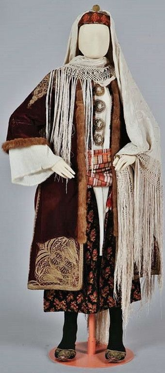 Traditional festive winter costume of Kastelorizo Island (a few km south of Kaş).  Greek, early 20th century.