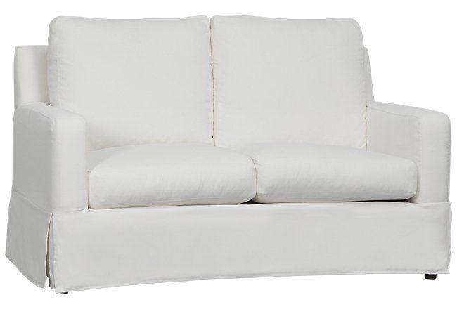 Bree White Fabric Loveseat Living Room Loveseats City Furniture Love Seat Loveseat Living Room City Furniture Design