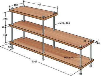 Shelves made of threaded rods and wooden plates | SELF MAKING home improvement magazine