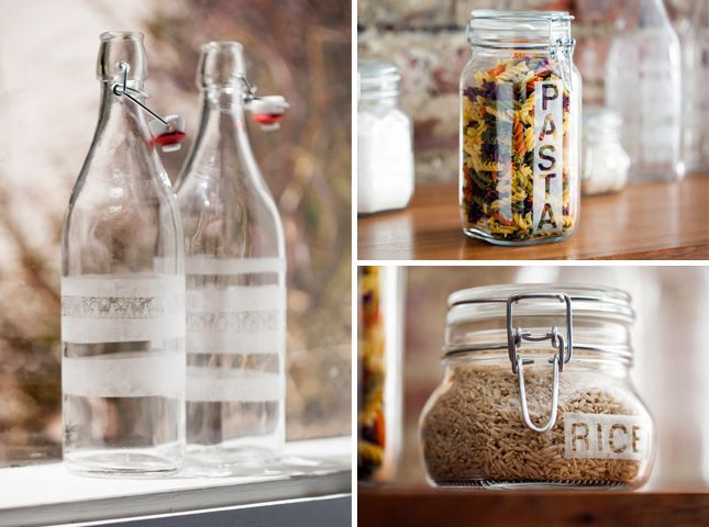 How to etch glass jars step by step DIY tutorial instructions, How to, how to do, diy instructions, crafts, do it yourself, diy website, art project ideas