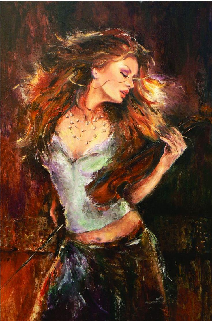 Liana Gor - Music Touch 36x24 - Oil on Canvas