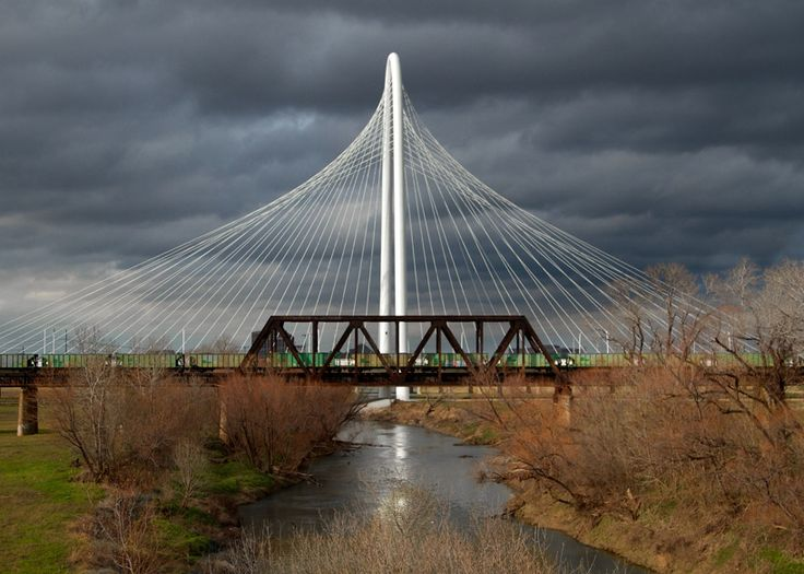 Calatrava bridge in Dallas, best photo i've seen of it: Pedestrian Bridges, Dallas Texas, Architects, Calatrava Bridges, Hill Bridges, The Bridges, Hunting Hill, Architecture, Margaret Hunting