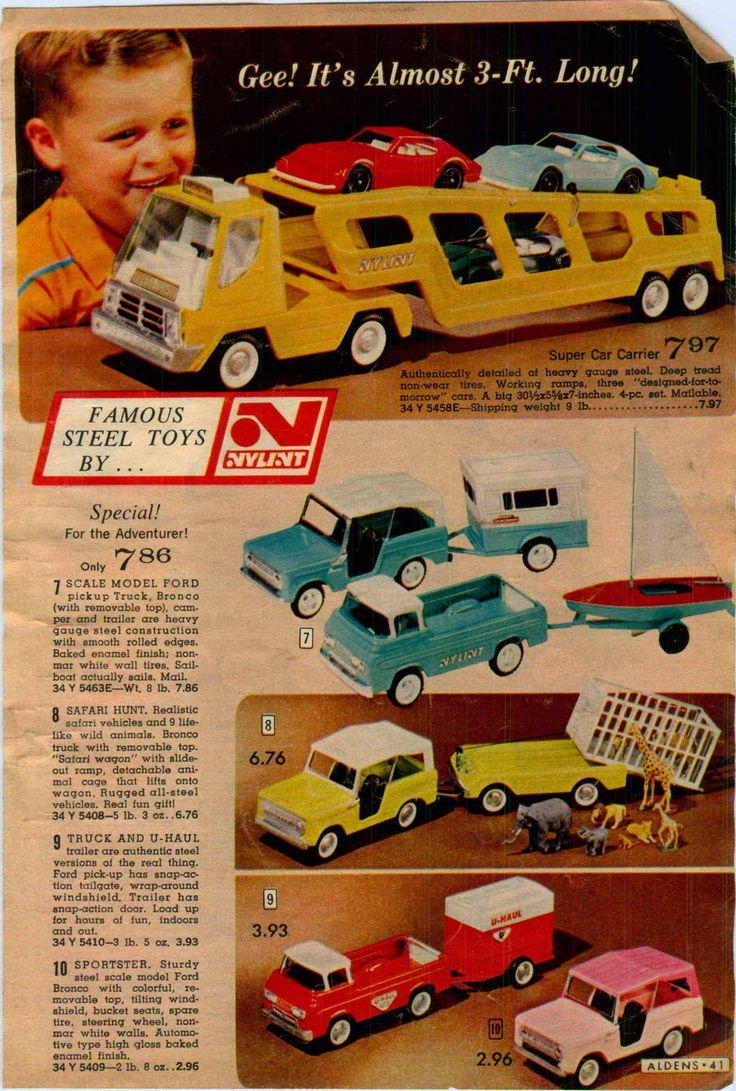 1967 advert nylint structo toy truck trash dump harse van car carrier pick up