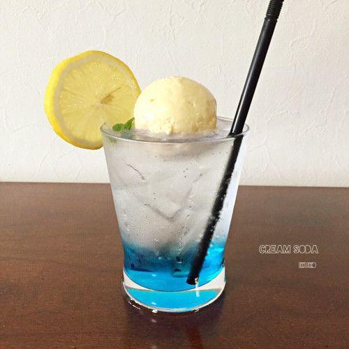 【Light it up blue 】 クリームソーダ