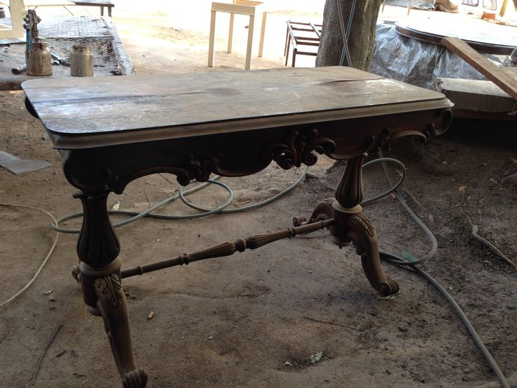 One of our #Victorian #Tables before refurbishment and restoration