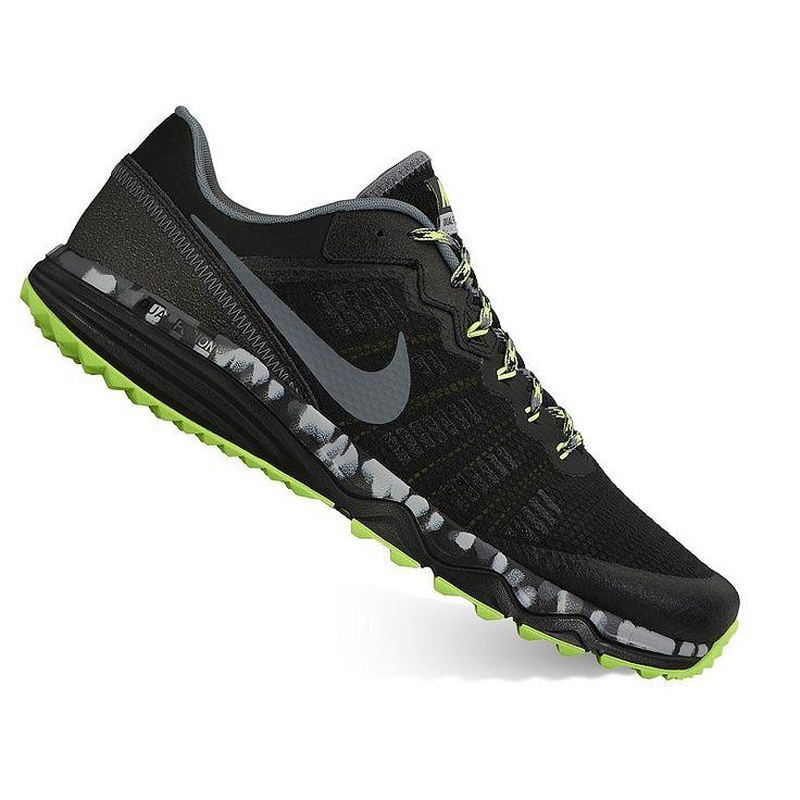 Nike Dual Fusion Trail 2 Men's Running Shoes, Size: 10.5, Black