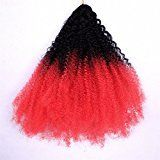 Furice New Afro Kinky Marley Hair Braids Jamaican Bounce Crochet Braids For black Women hairstyles14inch^^^1b red