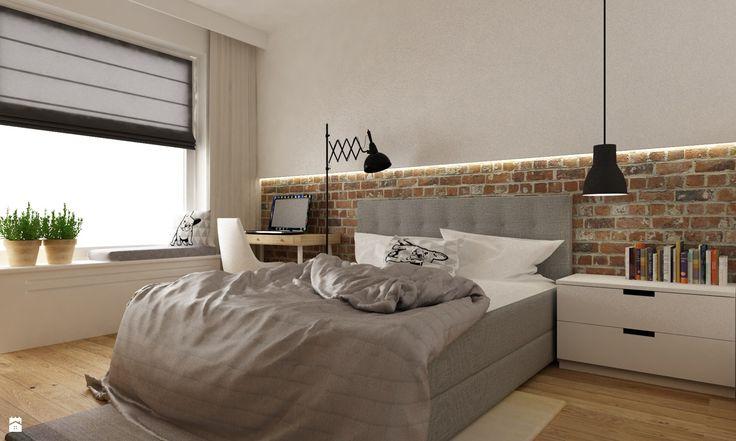 Sypialnia styl Skandynawski - zdjęcie od Grafika i Projekt architektura wnętrz - Sypialnia - Styl Skandynawski - Grafika i Projekt  architektura wnętrz