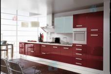 Кухня в стиле модерн RED HIGH GLOSS на заказ от компании MOBIERA S.R.L. в Кишиневе и в Молдове
