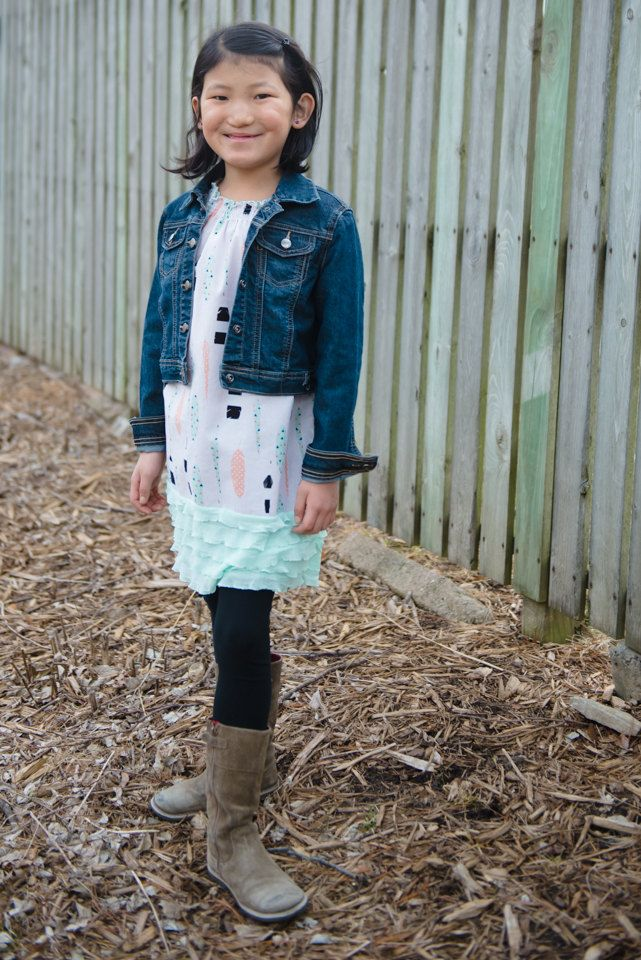 Feathers and ARROWS - Peasant tunic/dress with cap sleeve and ruffle hem   - 2T - 7Y by GenerationsInStyle on Etsy