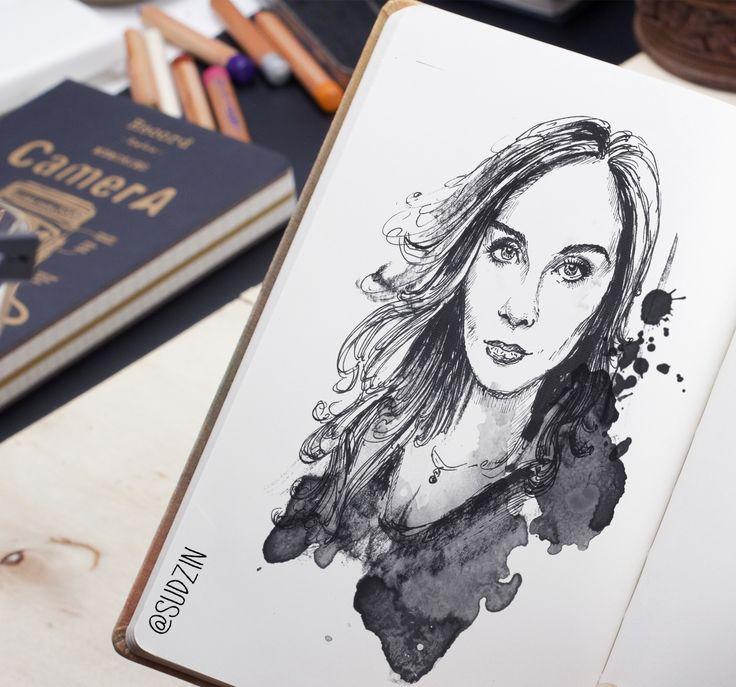 #ink #inktober #mermaid #тушьперо #graphic #графика #platinumpen #sketch #скетч #sketchbook #рисуноктушью #b&w #blackandwhite #эскиз #art
