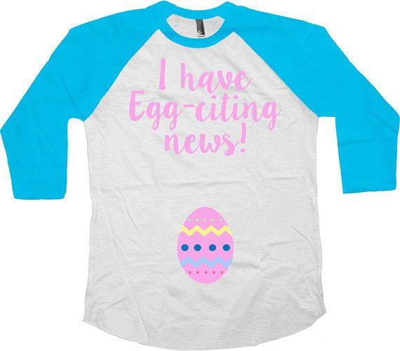 Easter Reveal Pregnancy Announcement Pregnant T Shirt
