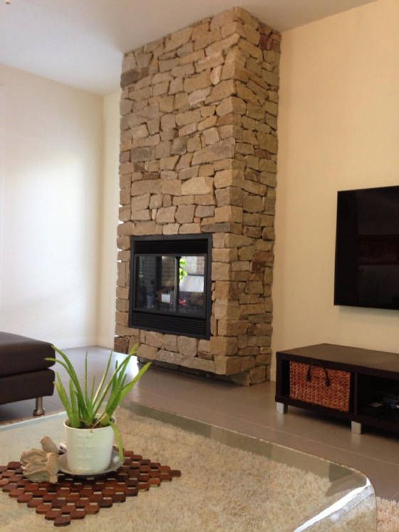 Sandstone cladding walls piers sydney sandstone for Fireplace half stone