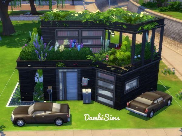 Dambisims Modern Eco House Sims 4 House Design Sims House Sims House Design