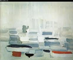 Nicolas de Stael - The Port of Boat Blocks of colour creating an abstract landscape. Convincing, satisfying and the work of a true great.