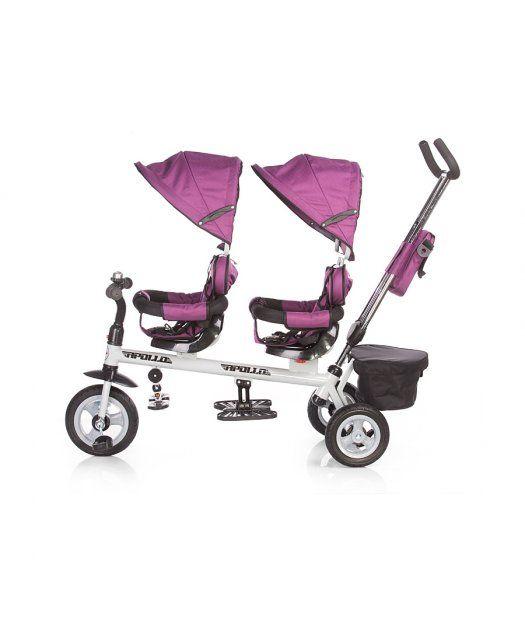 Triciclo para gemelos Chipolino Apollo negro