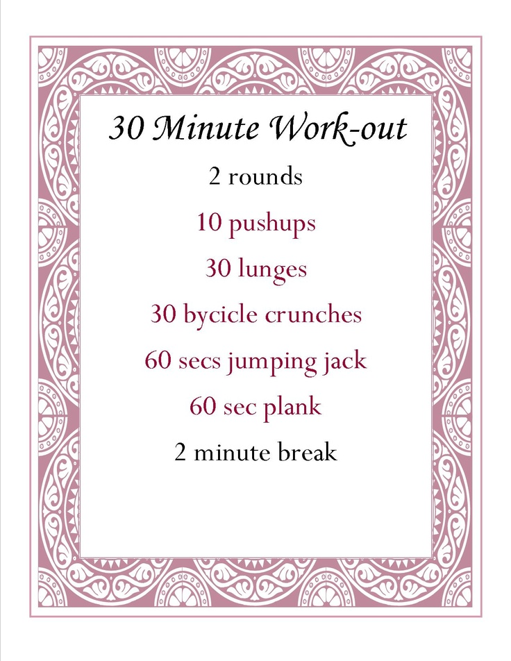 30 Minute Work-out