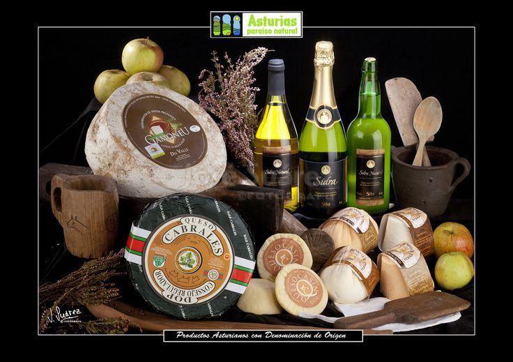 Productos asturianos. Asturias,Gastronomia,productos asturianos,denominación de origen.