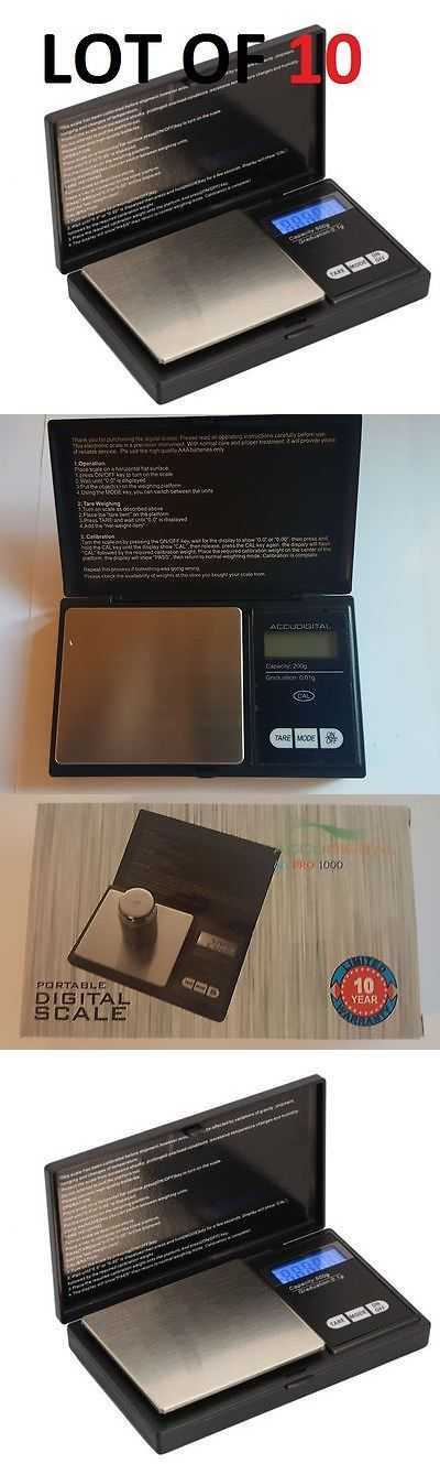 Scales 34088: Lot Of 10 Accudigital 200G X 0.01G Digital Pocket Scale Kitchen Jewelry -> BUY IT NOW ONLY: $77.99 on eBay!