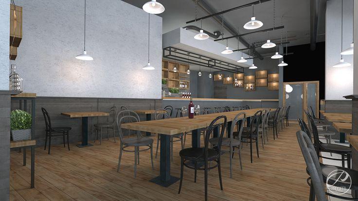 Projekt Restauracji  Modern restaurant Progetti Architektura
