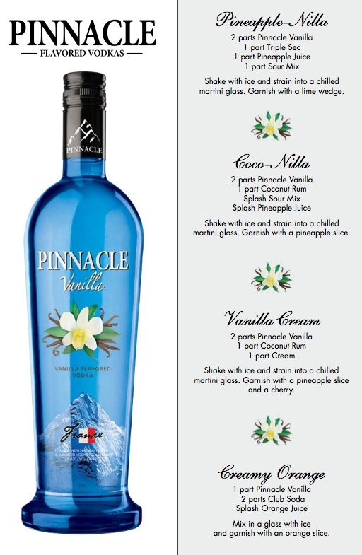 Pinnacle Vanilla Vodka Drink Recipes