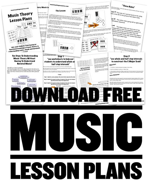 music theory sample lesson plan Free sheet music, riffs, lessons and  lesson 1 staffs, clefs and ledger lines lesson 2 note duration lesson 3 measures and time  all music theory articles.