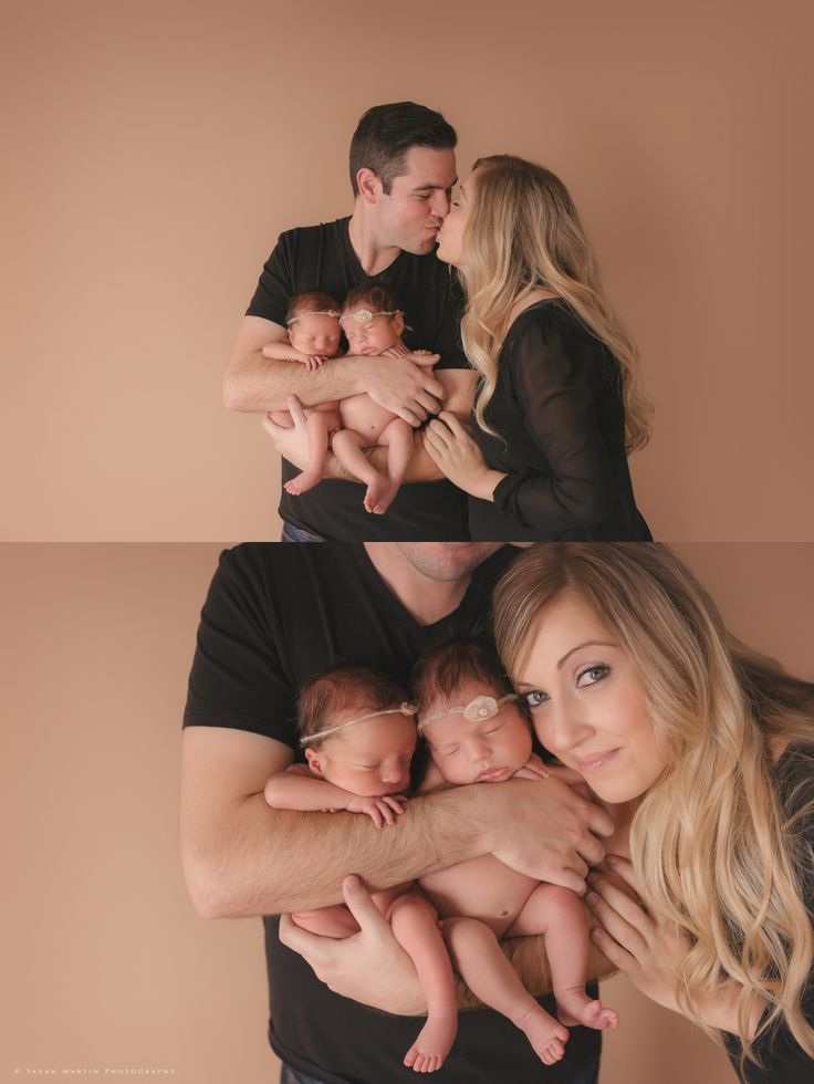 Sarah Martin Photography, twin photographer, baby girl twins, girl twin newborns, newborn posing, toronto newborn photographer, parent pose