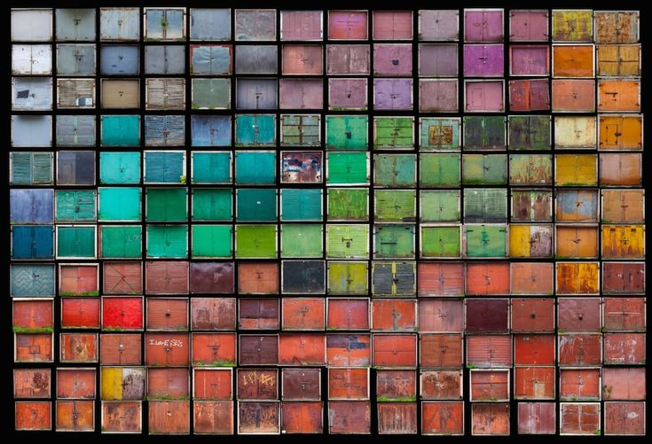 """itscolossal: """" Hundreds of Vibrant Doors Found Within Lithuania's """"Garage Towns"""" Photographed by Agne Gintalaite """""""
