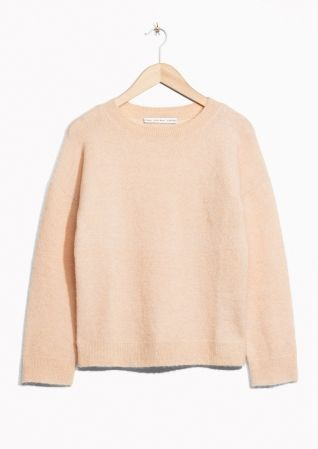 & Other Stories image 1 of Mohair Blend Sweater in Beige